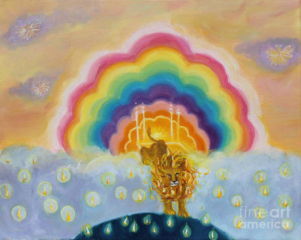 Painting - Pms 43 Lion Of Judah On Earth by Anne Cameron Cutri