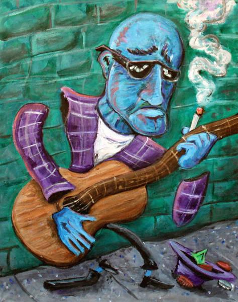 Jazz-funk Painting - Po Man by Jason Gluskin