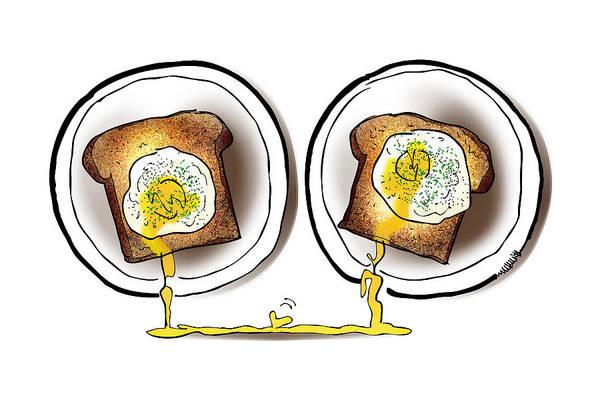 Poached Egg Love Art Print