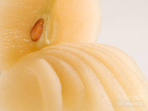 Wall Art - Photograph - Poached Pear Clos Up by Iris Richardson