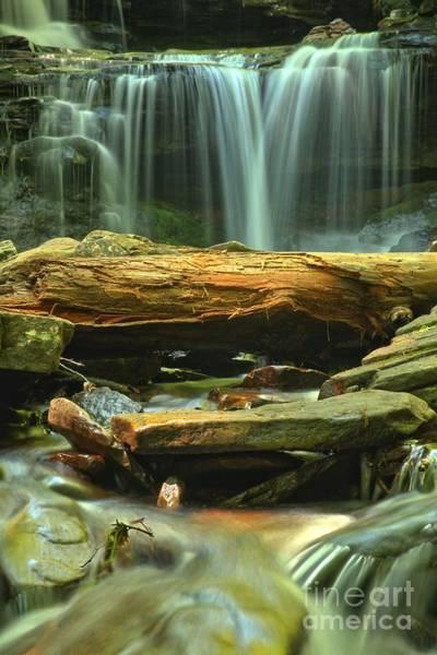 Photograph - Poconos Cascades by Adam Jewell