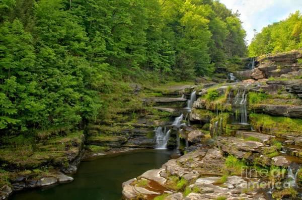Photograph - Poconos Ledges Waterfall by Adam Jewell