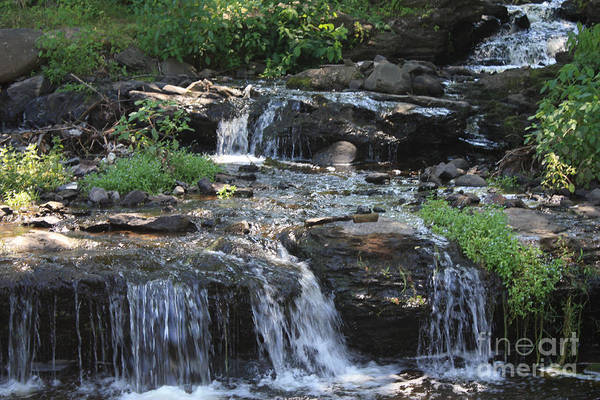 Poconos Wall Art - Photograph - Poconos Waterfall Stream by John Telfer