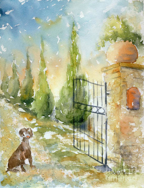 Painting - Podere Salicotto Gate by Pat Katz