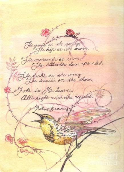 Meadow Lark Painting - Poem Illustration by Callie Smith