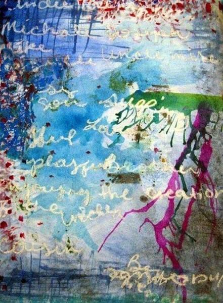 Wall Art - Painting - Poem by Lauren  Pecor