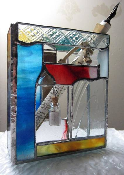 Painting - Poet Windowsill Box - Other View by Karin Thue