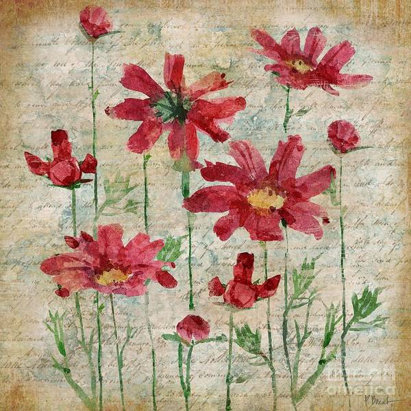 Pink Daisy Painting - Poetic Garden IIi by Paul Brent