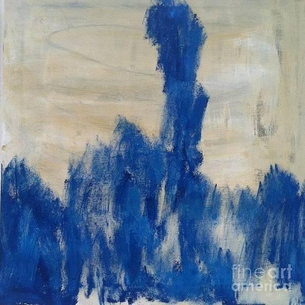 Poetry In Blue Art Print by Bebe Brookman