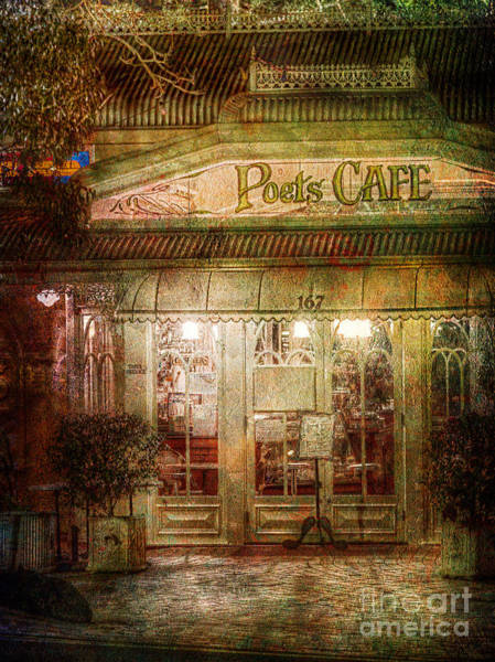 Photograph - Poet's Cafe by Russell Brown