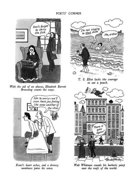 3 Drawing - Poets' Corner by J.B. Handelsman