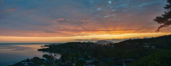 Photograph - Poha Kea Point Sunrise Panorama by Dan McManus