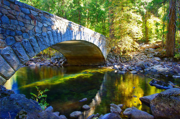 Pohono Bridge Yosemite National Park Art Print