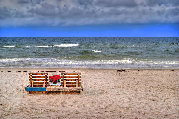 Painting - Poinsettia Beach Chairs by Michael Thomas