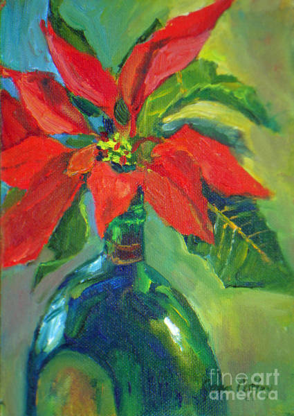 Painting - Poinsettias by Joan Coffey
