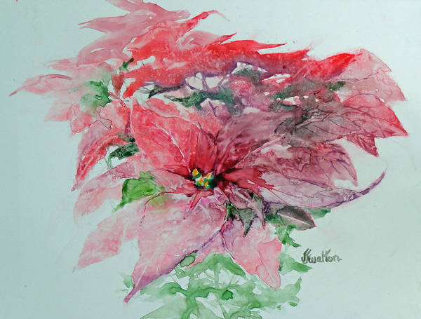 Painting - Poinsettias On Yupo by Judy Fischer Walton