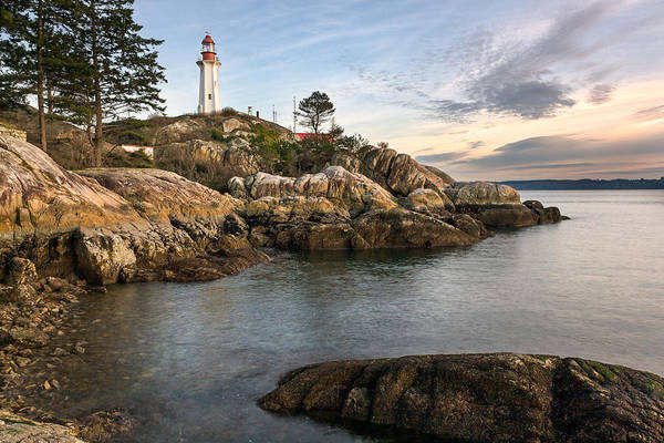Metro Vancouver Wall Art - Photograph - Point Atkinson Lighthouse In West Vancouver by Michael Russell