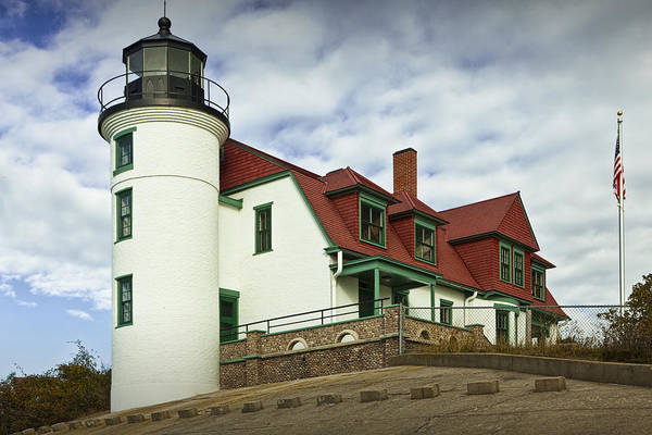 Photograph - Point Betsie Lighthouse In Michigan by Randall Nyhof