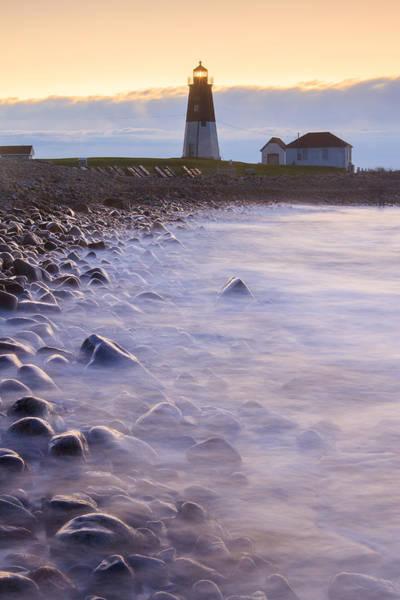 Narragansett Photograph - Point Judith Sunrise by Bryan Bzdula