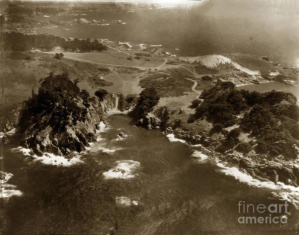 Photograph - Point Lobos Near Carmel California Circa 1940 by California Views Archives Mr Pat Hathaway Archives