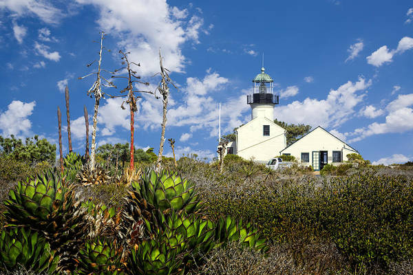 King Harbor Photograph - Point Loma Lighthouse by Kelley King
