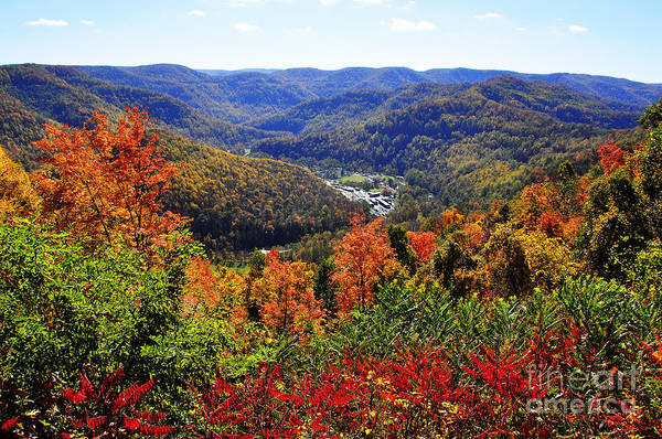 West Point Photograph - Point Mountain Overlook In Autumn by Thomas R Fletcher