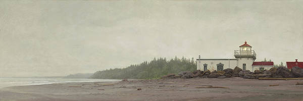 Painting - Point No Point Lighthouse by Ron Crabb