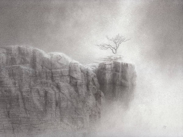 Mist Drawing - Point Of Grace by Mark  Reep