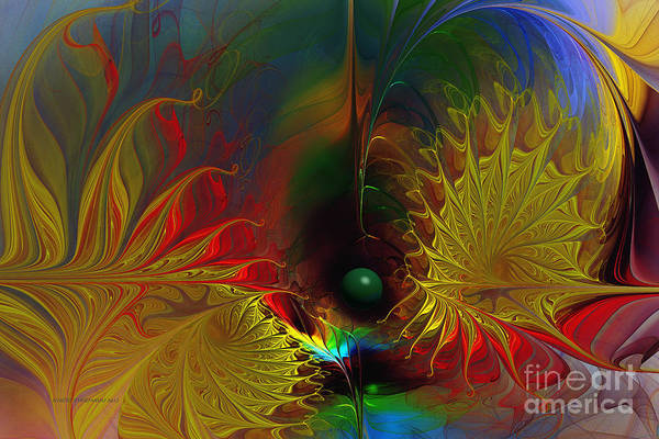 Translucent Digital Art - Point Of No Return-abstract Fractal Art by Karin Kuhlmann