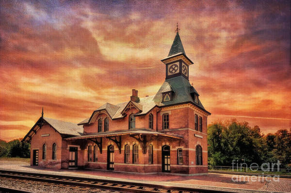 Brick Gothic Photograph - Point Of Rocks Train Station  by Lois Bryan