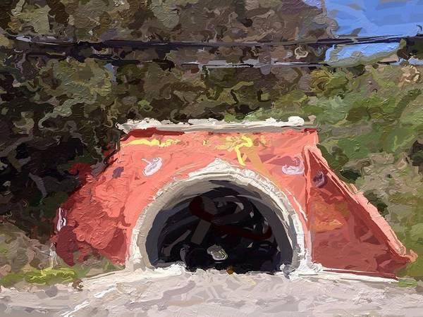 Holland Tunnel Digital Art - Point Richmond Tunnel by John Holland