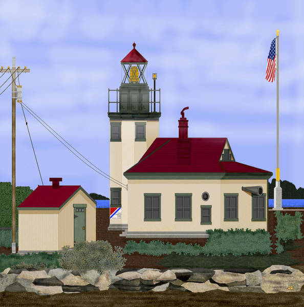 Wall Art - Painting - Point Robinson With Shoreline Detail 2013 by Anne Norskog