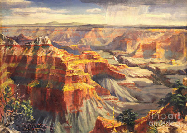 Painting - Point Sublime - Grand Canyon Az. by Art By Tolpo Collection