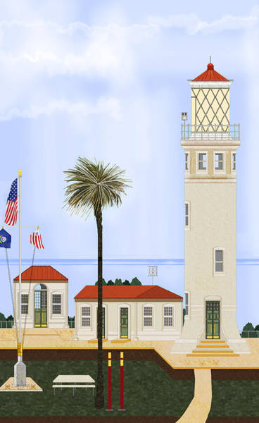 Point Vicente Wall Art - Painting - Point Vicente Lighthouse by Anne Norskog