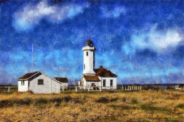 Port Townsend Digital Art - Point Wilson Lighthous Landward by Kaylee Mason