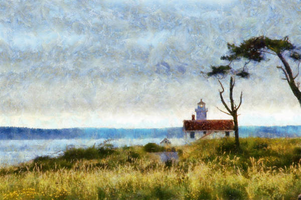 Port Townsend Digital Art - Point Wilson Lighthouse by Kaylee Mason