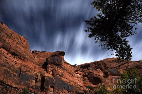 Spider Rock Photograph - Poison Spider Mesa Under Moonlight by Gary Whitton