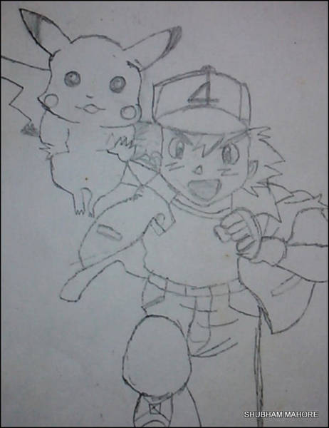 Pokemon Drawing - Pokemon by Shubham Mahore