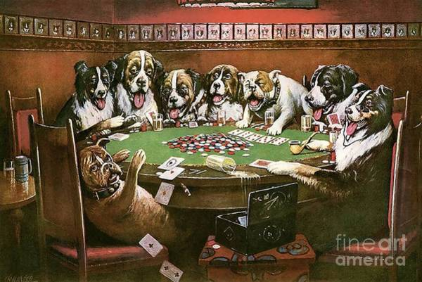 Coolidge Painting - Poker Sympathy by Cassius Marcellus Coolidge