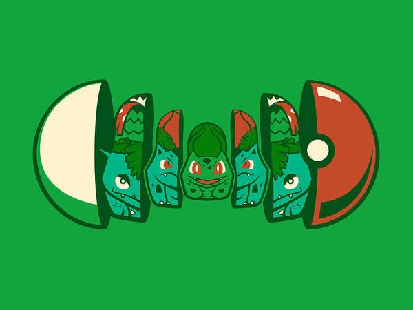 Pokemon Wall Art - Digital Art - Poketryoshka - Grass Type by Michael Myers