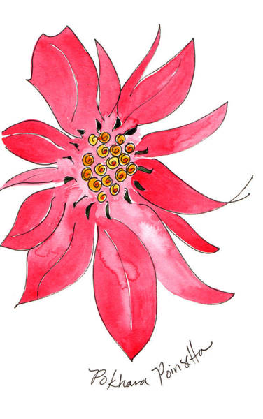 Painting - Pokhara Poinsettia by Anna Elkins