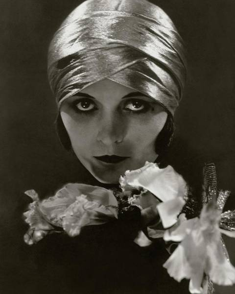 Flower Head Photograph - Pola Negri Wearing A Head Wrap by Edward Steichen