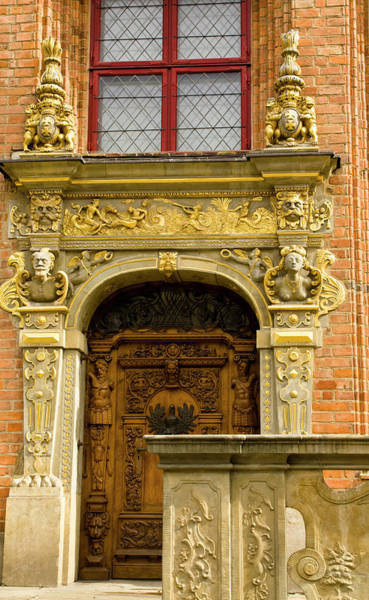 Craftsmanship Photograph - Poland, Gdansk Detail Of Ornate Door by Jaynes Gallery
