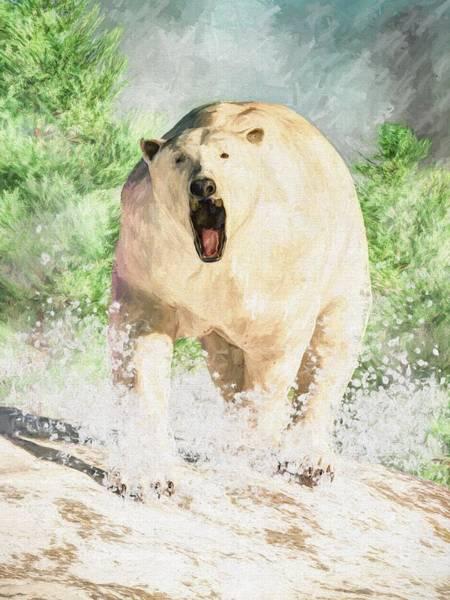 Digital Art - Polar Bear Attack by Daniel Eskridge