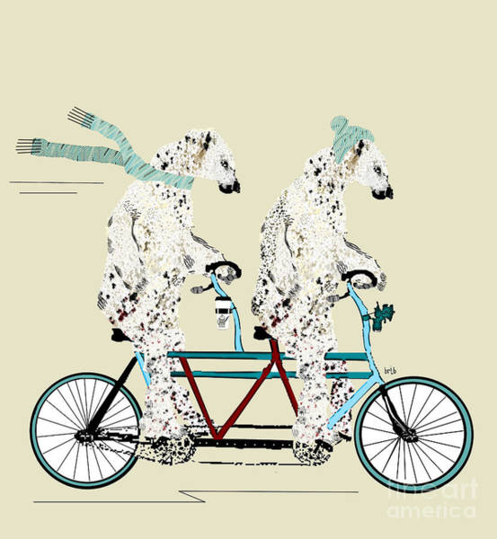 Wall Art - Painting - Polar Bears Lets Tandem  by Bri Buckley
