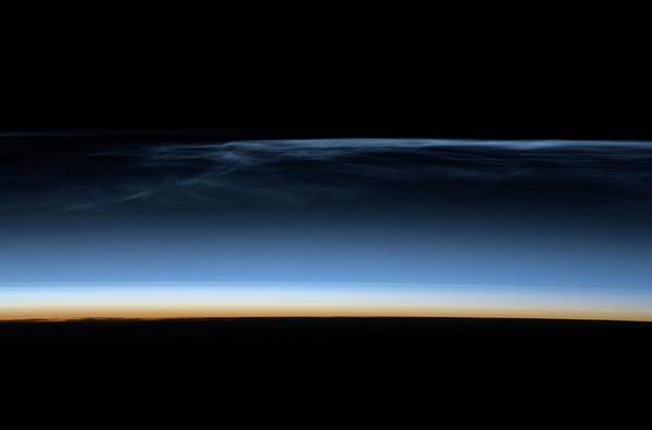 Mesosphere Photograph - Polar Mesospheric Clouds by Nasa/science Photo Library