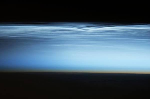 Mesosphere Photograph - Polar Noctilucent Clouds by Nasa
