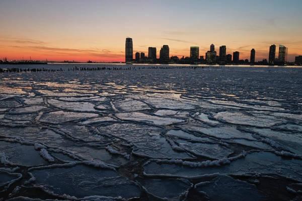 Ice Floes Wall Art - Photograph - Polar Vortex Weather System Brings by Afton Almaraz