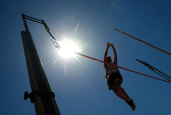 Photograph - Pole Vault Silhouette. by Steve Somerville