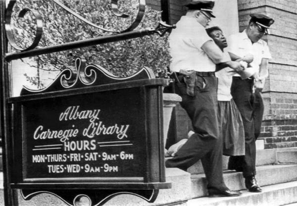 Demonstrators Photograph - Police Carry Demonstrator by Underwood Archives